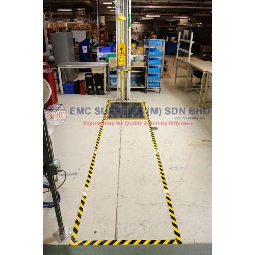 BRADY 104317 Floor Marking Tape,Roll,2In W,100 ft L