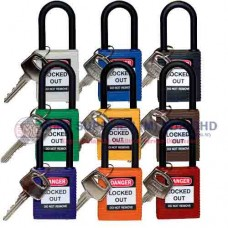 Brady Safety Padlocks with Non-Conductive Nylon Shackle