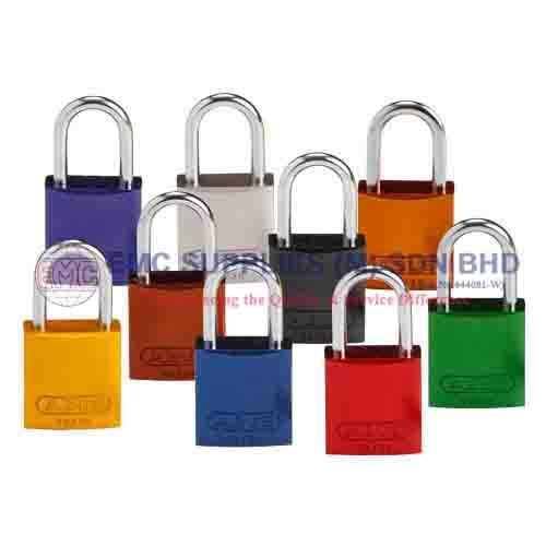 Brady 133268 Keyed Padlock Aluminum Pack of 6 Different Key