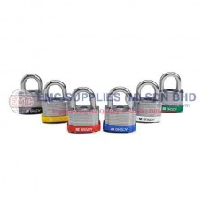 "Brady Laminated Steel Padlocks - 3/4"" Shackle"