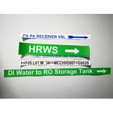 EMC Customised Labels Service for Pipe Markers