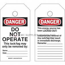 Brady RipTag Danger Do Not Operate Safety Tag Roll EMC Supplies (M) Sdn. Bhd. is an established supplier mainly supplying Electro, Mechanical Components. We are an authorised distributor for the brand Brady, RKC, Hubbell and Nitto.